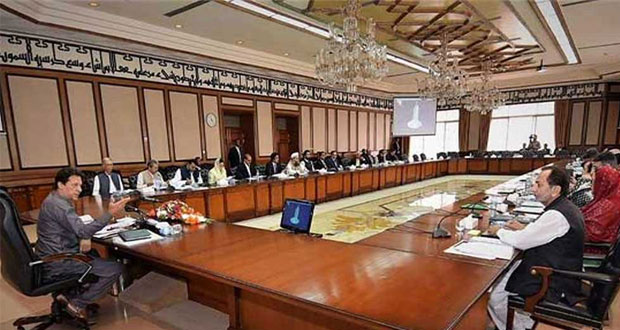 Cabinet chaired by Prime Minister Imran Khan on Thursday