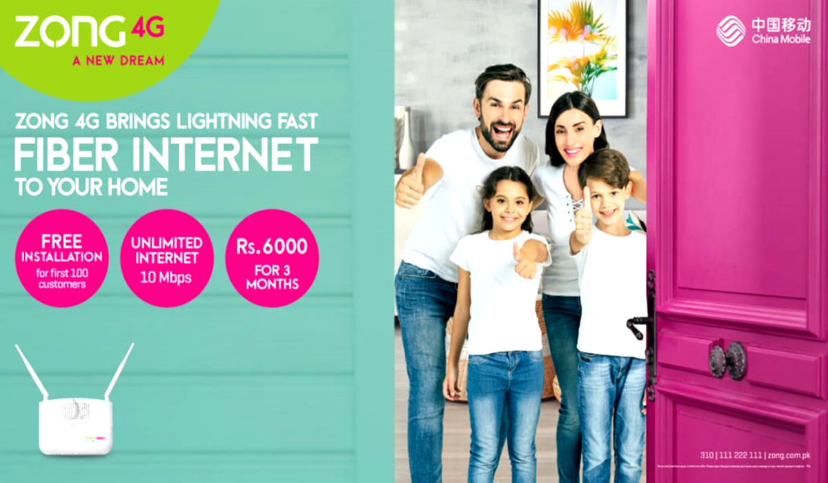 ZONG 4G Becomes First Telecom Company To Launch Fiber Optic Internet Service in Pakistan