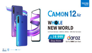 TECNO  Mobile Launches CAMON 12 Air Exclusively On Daraz