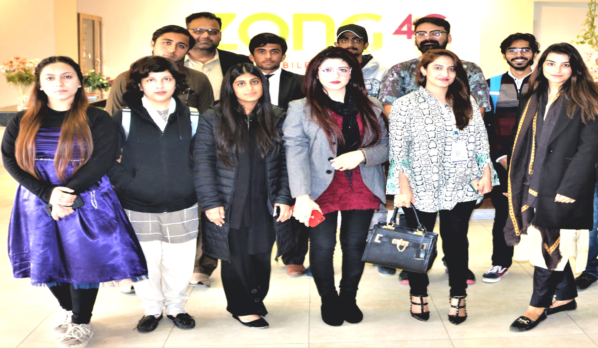 Zong 4G Educates TMUC Students On Their Visit To The Headquarters