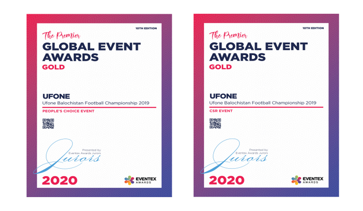 Ufone Makes Pakistan Proud, Wins Two Global Gold Awards