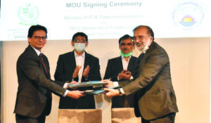 Minister of IT & Telecom signed MoU with NED University To encourage Start-up Culture in Pakistan