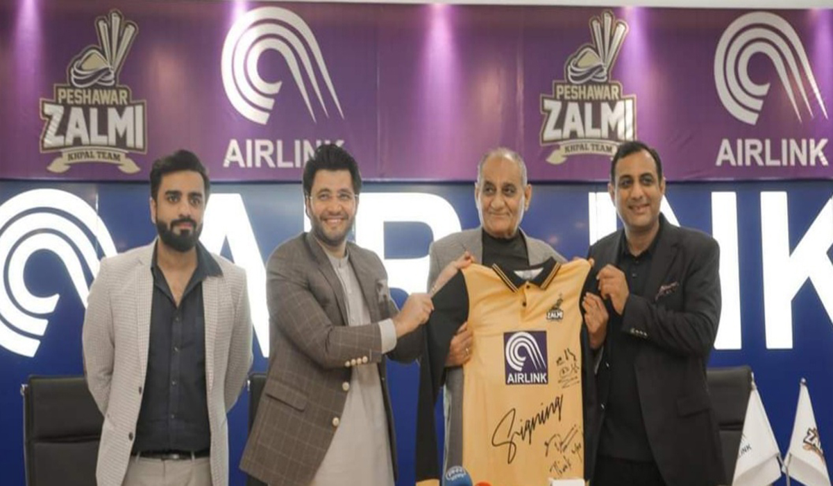 Airlink Communications Signed MOU with Peshawar Zalmi's for PSL 6