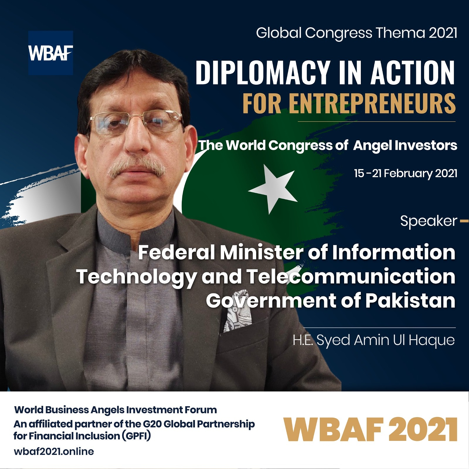 Federal Minister for IT elected as President of STI Committee of World Business Angel Investment Forum