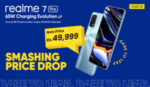 Get ready to get your hands on the fastest charging smartphone in Pakistan, realme 7 Pro with 65W SuperDart charge now offered for PKR 49,999 only