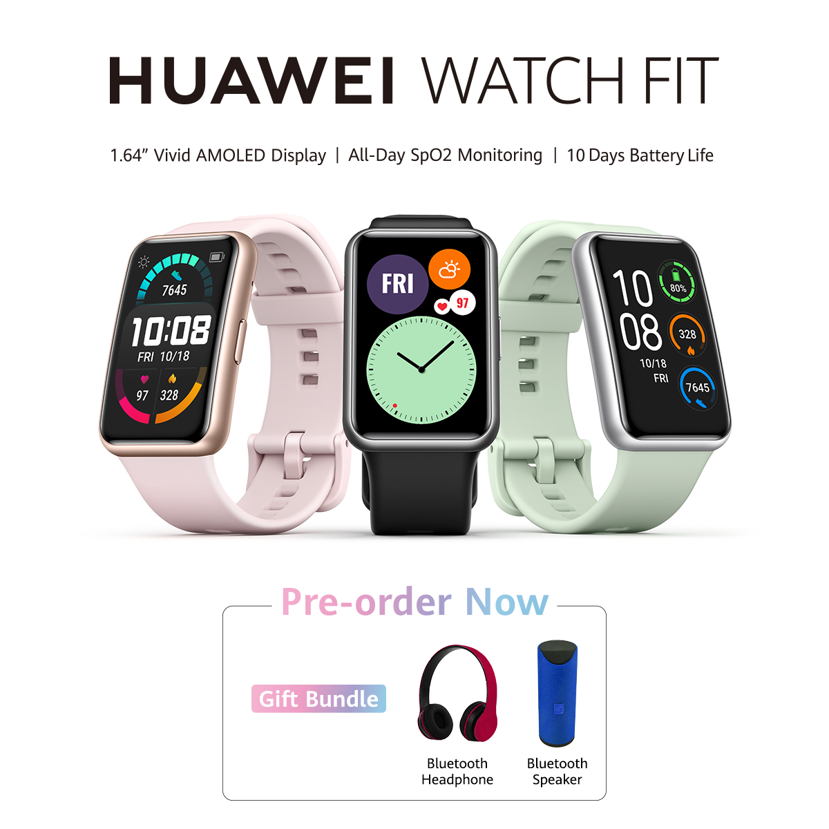 The HUAWEI Watch Fit opens Pre-bookings Nationwide