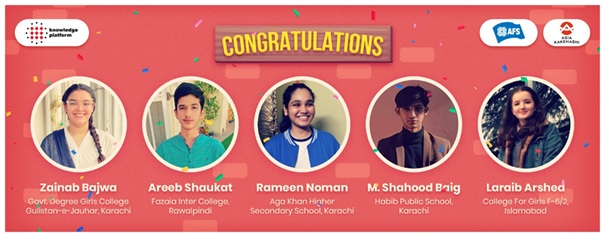 Knowledge Platform and AFS awarded Scholarship to 5 Pakistani Students to Study in Japan
