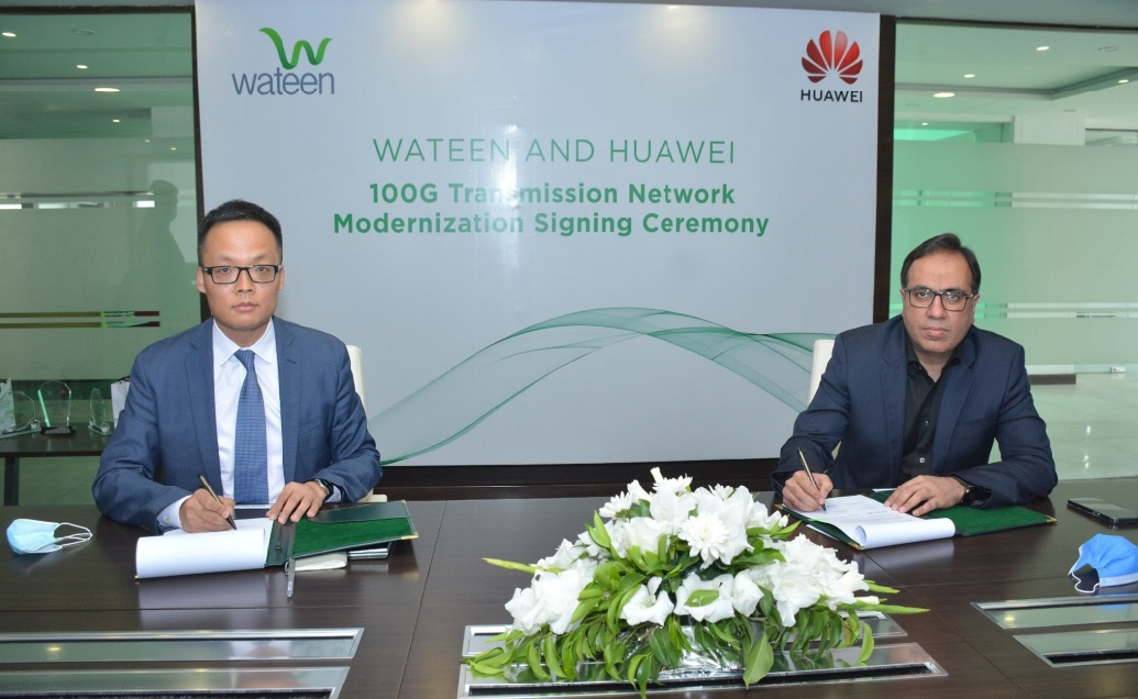Wateen Telecom partners with Huawei to upgrade its nationwide Data Transmission Network to 10 TB capacity